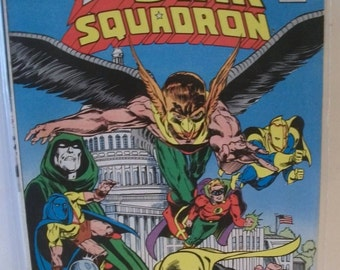 1986 All Star Squadron #67  Last Issue Jay Garrick Flash, Green Lantern, Hawkman,VG -Fine Condition Vintage  Comic Book  DC Comics