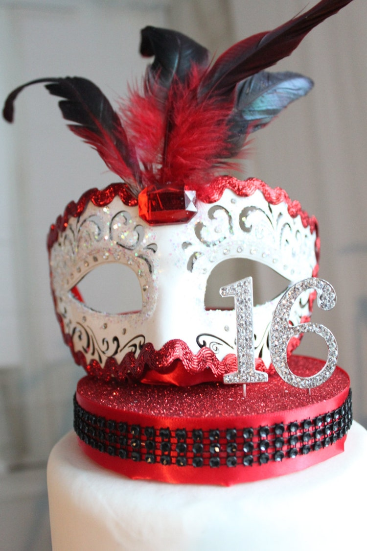 Masquerade White Red And Black Sweet 16 By