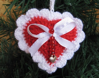 Heart Christmas Tree ornaments accents Christmas Tree Decorations Christmas gift Xmas Ornament red christmas decor Tree Decorations