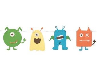 MONSTER THEME - Monster Banner - Monster Baby Shower - Monster Birthday Party - Monster Party Supplies - Monster Decoration - Monsters Theme
