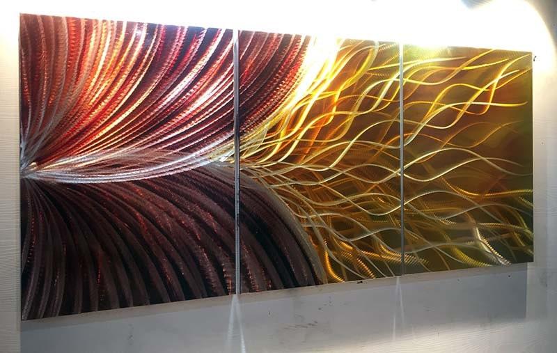 Metalen wall art metaal schilderij kunst aan de muur metalen for Schilderij op aluminium