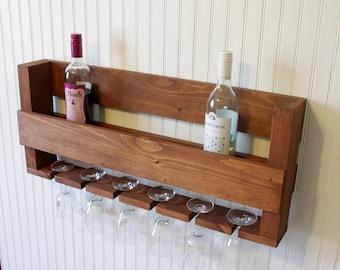 Wine Rack, Rustic Wine Rack, Wedding Gift, Wooden Wine Rack,