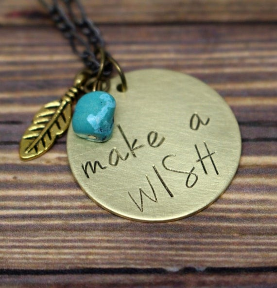 Make a wish necklace with stone jewelry with meaning hand for How do you make hand stamped jewelry