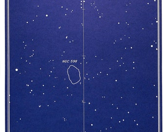 Astronomy, Star Chart, Constellations, Galaxy, Stars, Deep Sky, 1984, Chart no. 7