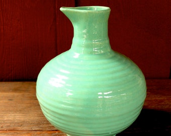 vintage Bauer vase // California pottery // Bauer pot // Bauer pitcher // turquoise pottery