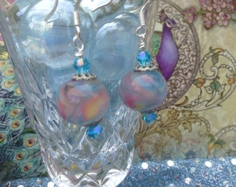 Lamp glass earrings