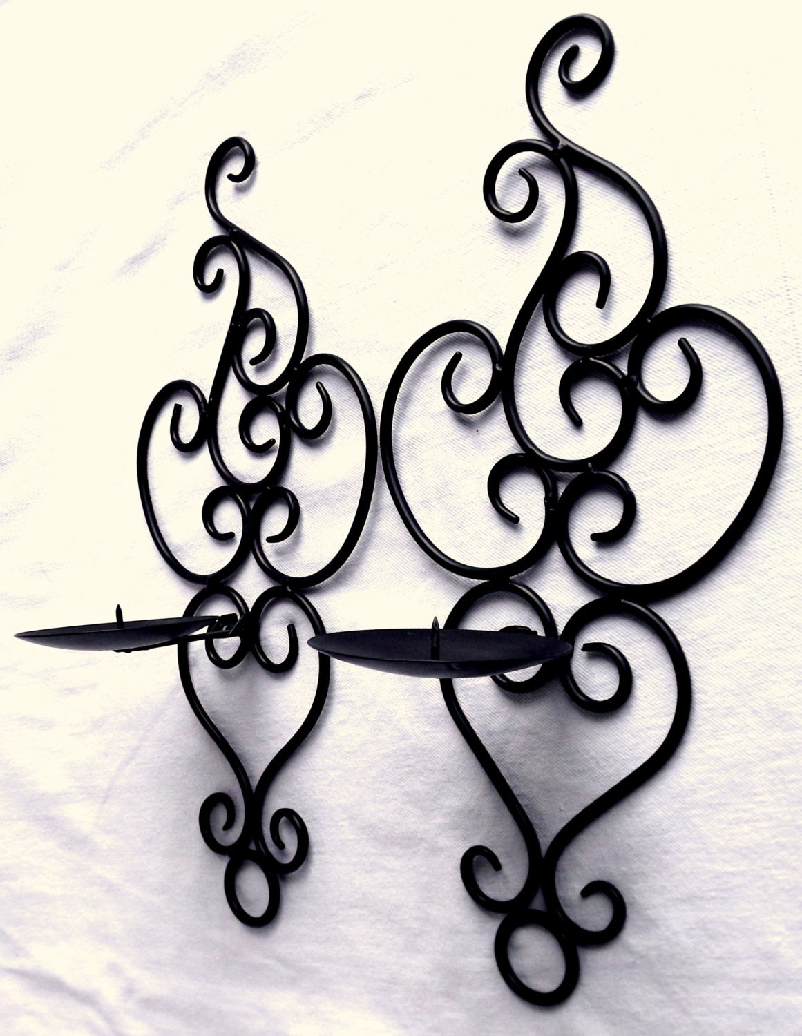 Wrought Iron Wall Decor Candle Holders : Wrought iron candle wall sconces garden sconce