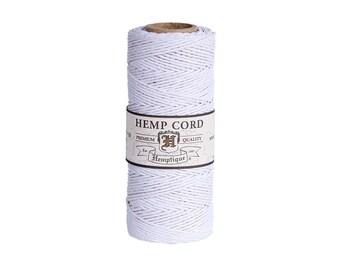 Hemp Cord Spool | Hemptique White Hemp Cord Spool | Macrame Cord | String Art | Jewellery Making | Beading Cord | Gift Twine | Australia