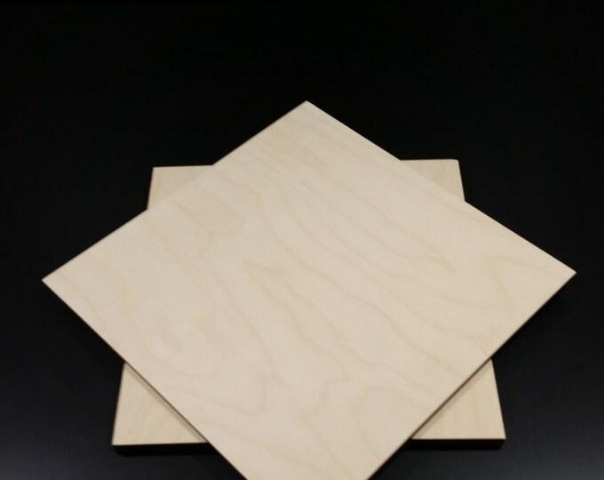 "11 3/4"" Laser cut wooden spinning gamer susan tray"