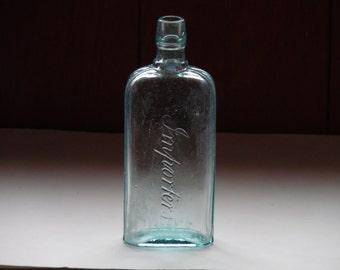 Collectible Antique Importers Aqua Glass Bottle Embossed OCR FREE SHIPPING