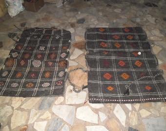 kilim rug,turkish rug,lumbar kilim air rugs,30x43inc ,big cushions ,2 pieces  embroıdery, turkishrug, handmade rug, goatwool kilim rug,