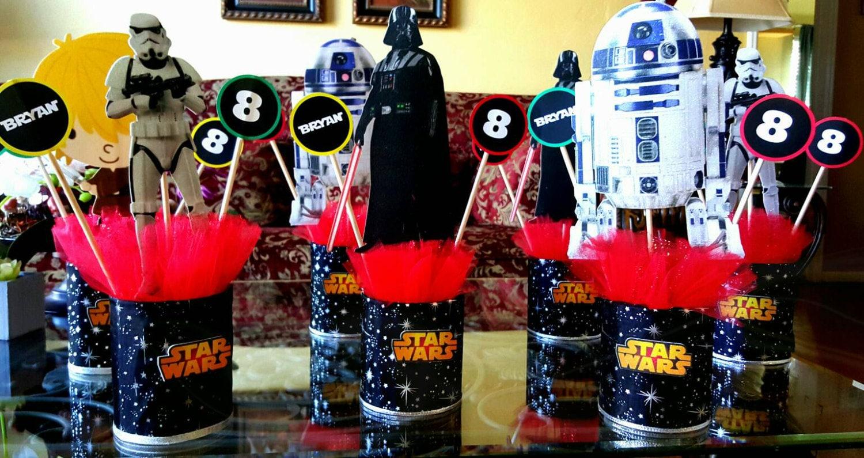 #C40719 3 Star Wars Centerpiece Party Decoration. For Boys Or Girls 5515 decorations de noel star wars 1500x795 px @ aertt.com