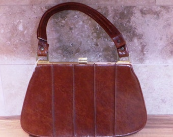 Vintage Clarks Brown Leather Hand Bag