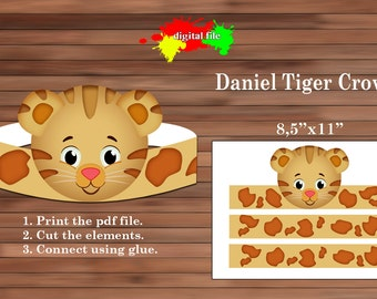 Daniel Tiger paper Crown, Paper Crown, PDF, Instant Download
