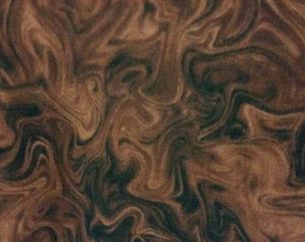Brown Swirl by Timeless Treasures bolt end/ remnant per yard