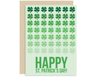 Ombre St Patrick's Day Card - Happy St Patrick's Day! - Cute Modern Fun - 5x7