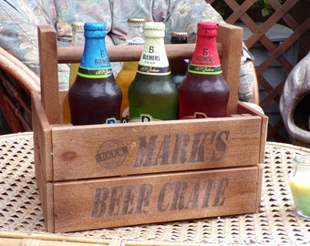 Personalised Beer Caddy - Bottle Opener - Beer Tote - Beer Carrier