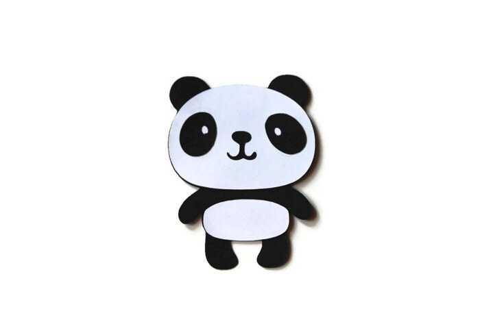 Panda Die Cuts, Panda Birthday, Panda Decorations, Panda