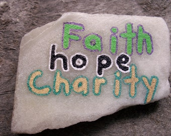 """Shop """"faith hope charity"""" in Home & Living"""