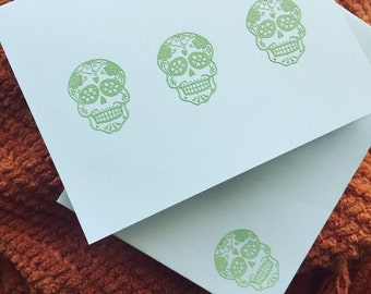 One Card - Decorated Skull