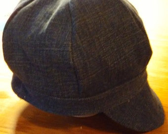 Denim Newsboy Cap - Recycled Jeans