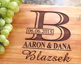Personalized Engraved Cutting Board- Wedding Gift, Anniversary Gifts, Housewarming Gift,Birthday Gift, Corporate Gift, Award, Promotion. 003