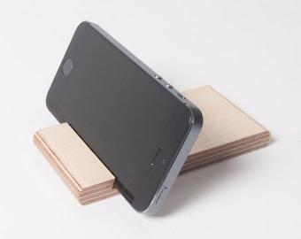 iPhone / iPad Stand - Groove Mini - Smart Phone / Tablet - Baltic Birch Plywood - Pocket / Desk Dock / Docking Station / Holder
