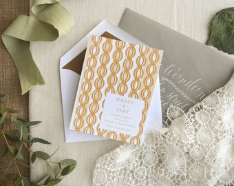 Romantic Wedding Invitation, Pink and Gold Wedding Invitation, Peach Wedding Invitation, Pink Wedding Invitation, Pretty Wedding Invitation
