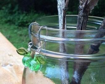 Northwest Grown Green Apple Earrings