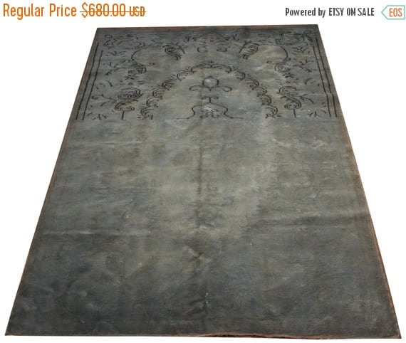 christmas sale designer area rug open by overdyedvintagerugs