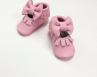Pink Mary Jane Moccasins