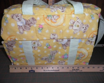 Diaper Bag made with Boyds Bear Fabric with Changing pad
