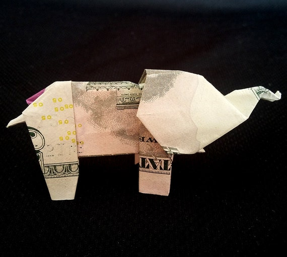 How to make origami elephant out of money - photo#48