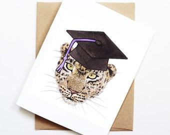 Graduation Card - Cheetah, Grad Card, College Graduation, High School Grad, Congrats Grad, Congrats Card, Cute Animal Card, Cheetah Card