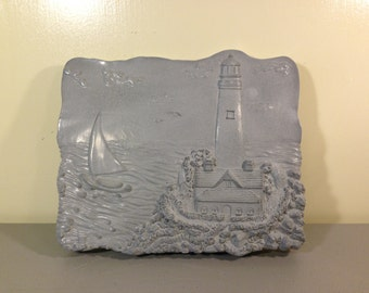Lighthouse Stepping Stone, Lighthouse Lovers, Garden Decoration, Lawn Decoration, Lighthouse Collectors,