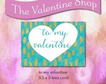 To My Valentine 3.5 x 5 Printable Card