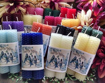 2 Beeswax Spell tapers candles  You choose the color.
