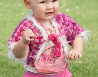 Pink and Fluffy Crochet Jacket
