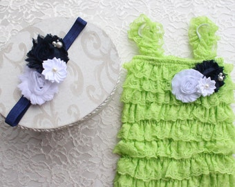 lime petti romper.lime romper,baby romper,photo prop romper,girls romper, birthday romper,lime romper sets,lace petti rompers,ruffle outfits