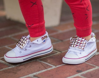 Toddler studded converse shoes