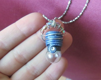 Magical tiny light bulb necklace