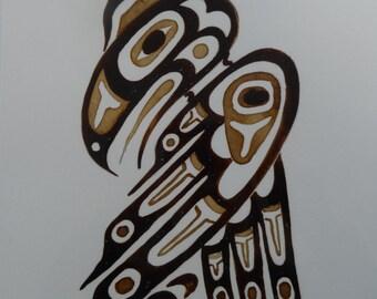 Alaskan Tribal Native Coffee Art