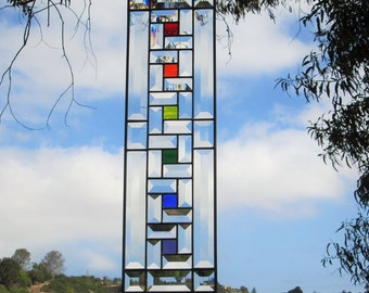 """LGBT Art Deco """"Mini-Confetti"""" Stained Glass