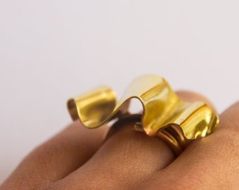 Handmade ring, brass