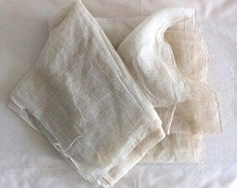 Vintage Kaya Net, Japanese Mosquito Net, Linen Net