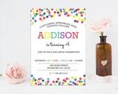 Sprinkle Birthday Invitation - Sprinkle Invitation - Printable Invitation - Sprinkle Invite - Sprinkle Birthday Invite - Bright Sprinkles