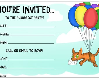 Party Cat Invite