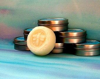 Natural Lotion Bar, White Tea and Ginger Scent, Mango Butter Lotion Bar with Vitamin E.