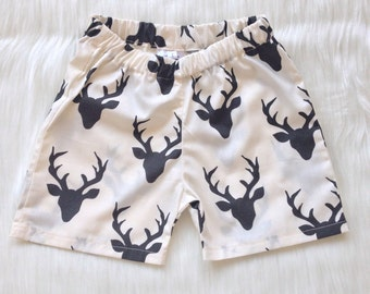 monochrome shorts stag buck deer