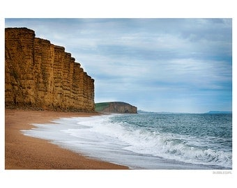 Landscape Photography PRINT, The Cliffs at West Bay - 2, Wall Art